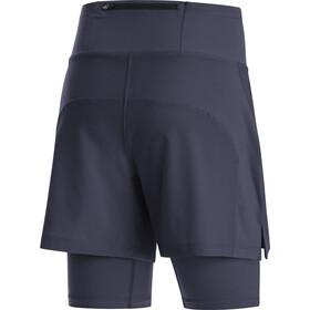 GORE WEAR R5 2en1 Shorts Mujer, azul
